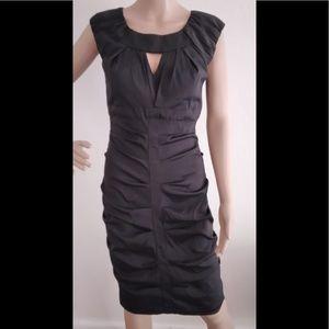 Xscape black party cocktail stretch dress 8 nwot